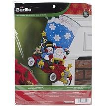 Bucilla 18Inch Christmas Stocking Felt Applique... - $25.10