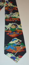 Looney Tunes Mania Necktie: Tasmanian Devil, Bugs Bunny, Daffy Duck, Sylvester G - $12.95