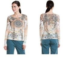 "prAna ""Rapture"" Coffee Burnout Long Sleeve Top Small NWT - $42.66"