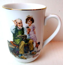 Norman Rockwell Cobbler Porcelain Collectible Mug - $7.80