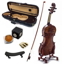 4/4 Antique Style Professional Handmade VN421 Violin Kit w Case Bow Rosi... - $448.79