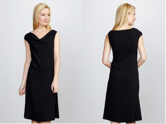 YANSI FUGEL Asymmetric  Drape Neck Dress Sz 2 NWT $200