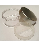 Lot 3 SILVER EMPTY 30 GRAM SIFTER JARS POTS Mineral Makeup Foundation Mi... - $6.95