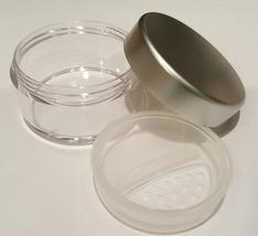 30 Gram SILVER CLOSABLE EMPTY SIFTER JAR Mineral Makeup Pot Gram Cosmetic - $2.95