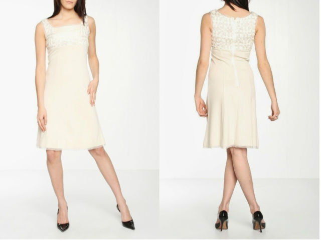 Signette by Aysha Seed A-Line Dress In Cream Sz 2 $325