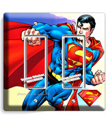 SUPERMAN SUPERHERO DOUBLE GFCI LIGHT SWITCH WALL PLATE COVER BOYS BEDROOM DECOR - $11.99