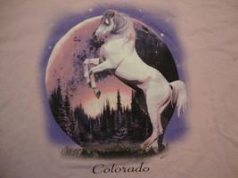 Colorado Horse Night Time Forrest Nature Tourist Souvenir Pink T Shirt Size XXL - $16.82