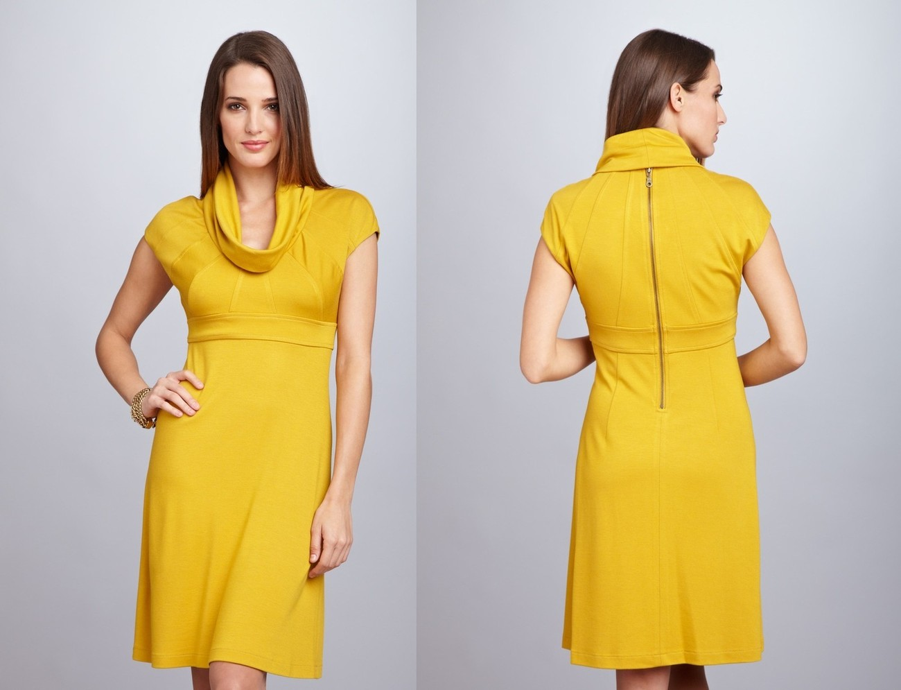 MUSE Cowl Neck Dress Sz 2 NWT $188