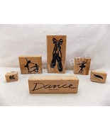 Stampin Up 6 Pc Dance Ballerina Ballet Slippers Rubber Ink Stamps Mounte... - $15.83