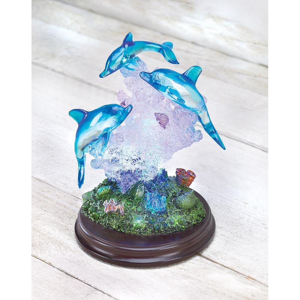 Light up dolphin sculpture  1
