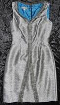 Donna Ricco Fringe Detail Metallic Shantung Dress Sz 4 NWT - $59.47