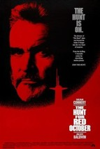 TOM CLANCY'S the HUNT for RED OCTOBER 1990 movie poster SEAN CONNERY 24X36 - $26.00