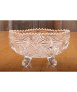 Vintage Cut Glass Sawtooth Top Toothpick Holder  - £17.94 GBP