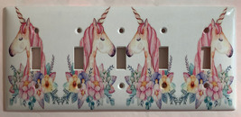 Unicorn Flower Light Switch Outlet Toggle & more Wall Cover Plate for Home decor image 8
