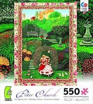 Unwrapping Gift Peter Church Jigsaw Puzzle 550-Piece Flower Garden SAME-... - $10.77