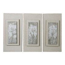 Uttermost Set of 3 Triptych Trees Handpainted Art - $437.80