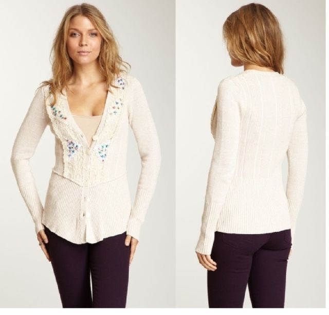Free People Chantilly Cardigan  XSmall NWT $148