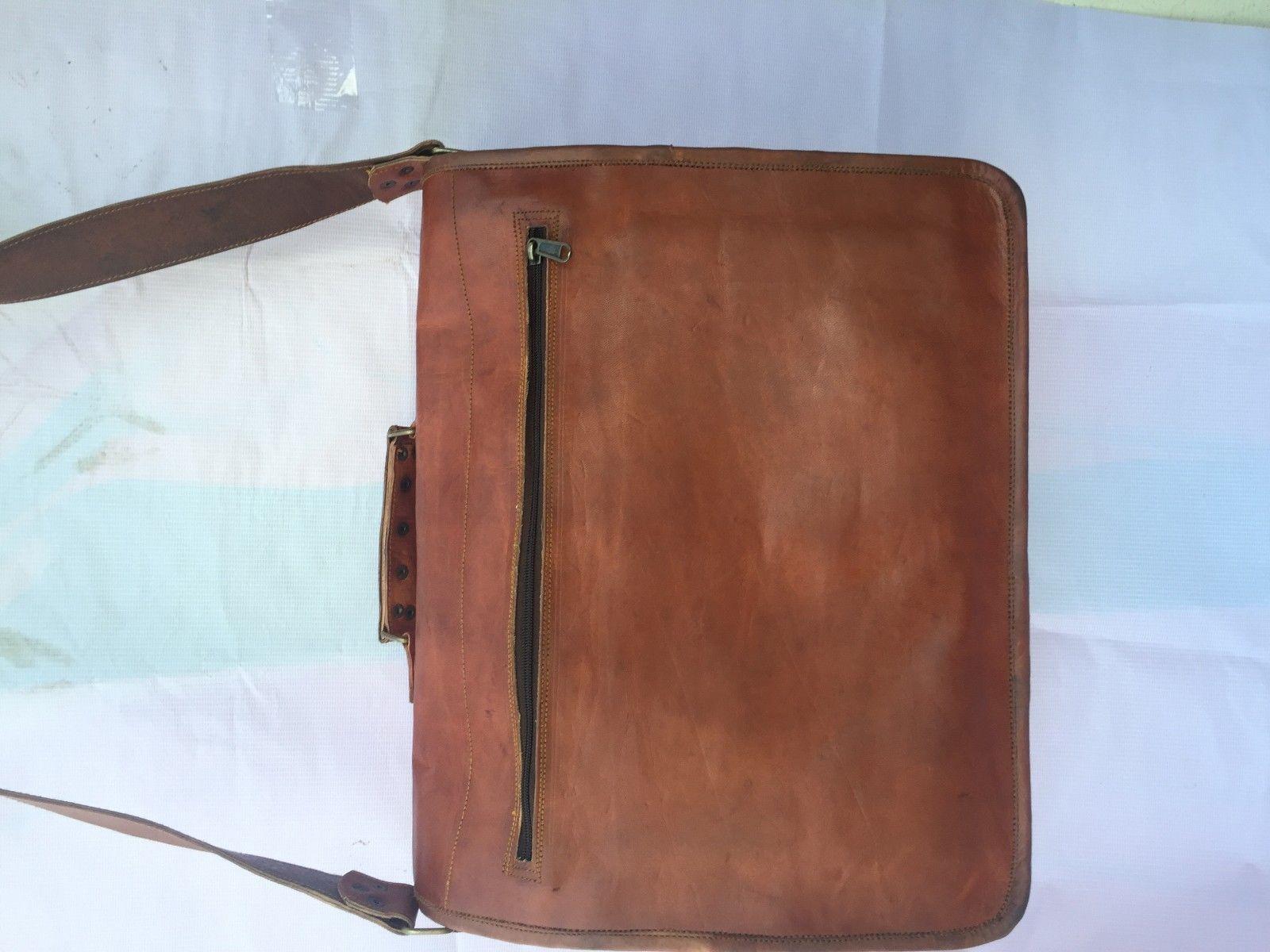 2016 Men's Vintage Looking Leather Messenger Briefcase Shoulder Bag Handmade