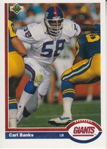 Carl Banks 1991 Upper Deck Card #316 - $0.99