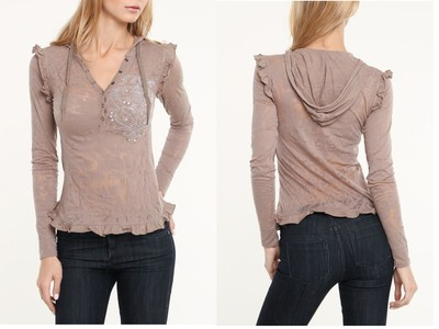 Pepe Julia Top in Toffee Small NWT