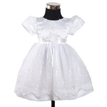 New White Christening Party Flower Girl Dress 3-6 to 12-18 Months - $19.97