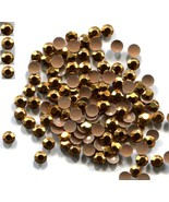 1440 RHINESTUDS Faceted Metal  5mm  GOLD  Hot Fix 10 gross - $17.49