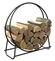 Log Holder Firewood Hoop Steel Display Store Fi... - $47.31