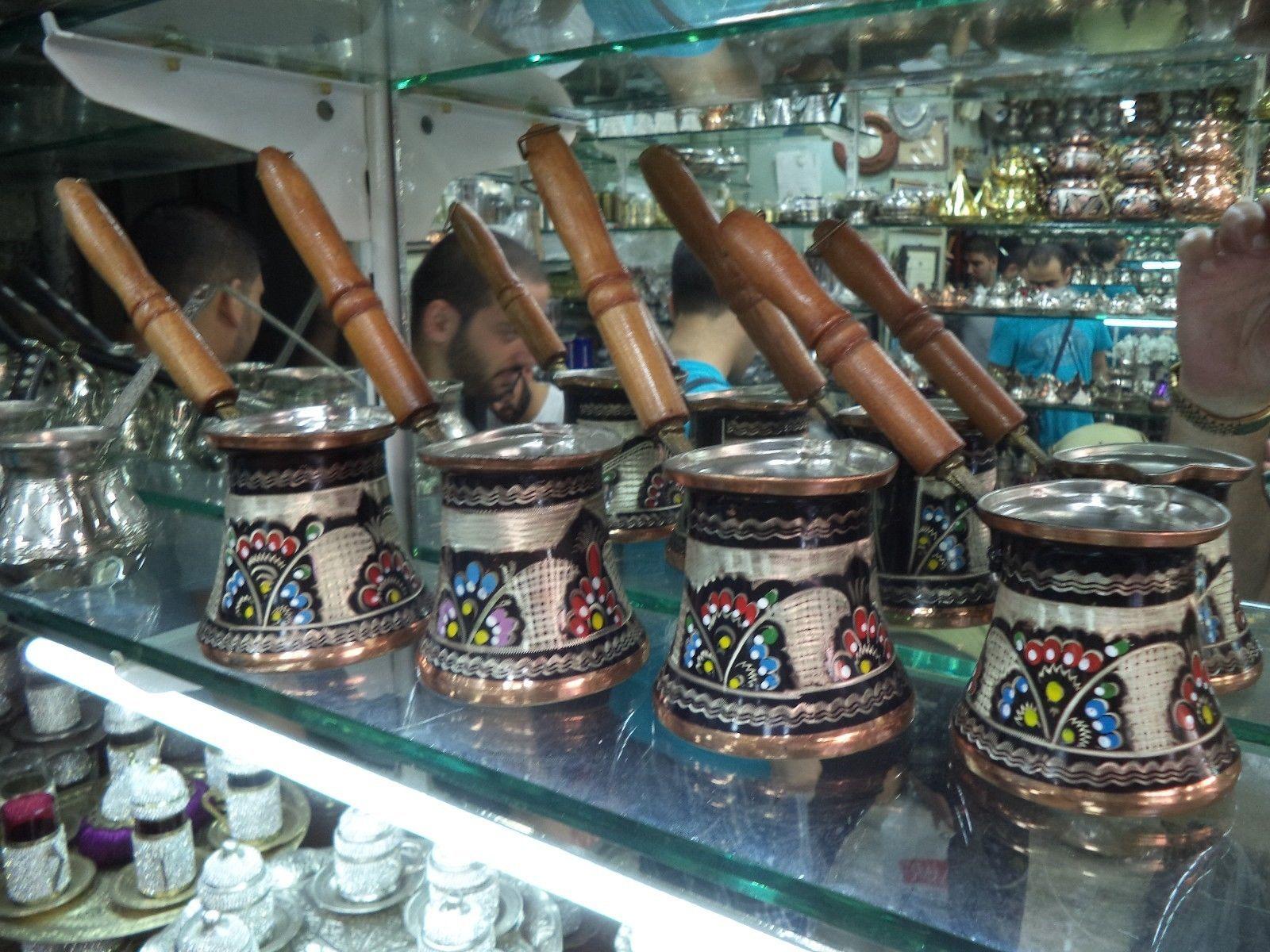 Handmade Unique Copper Coffee Pot Stovetop Pot (Cezve/Ibrik) Hand painted