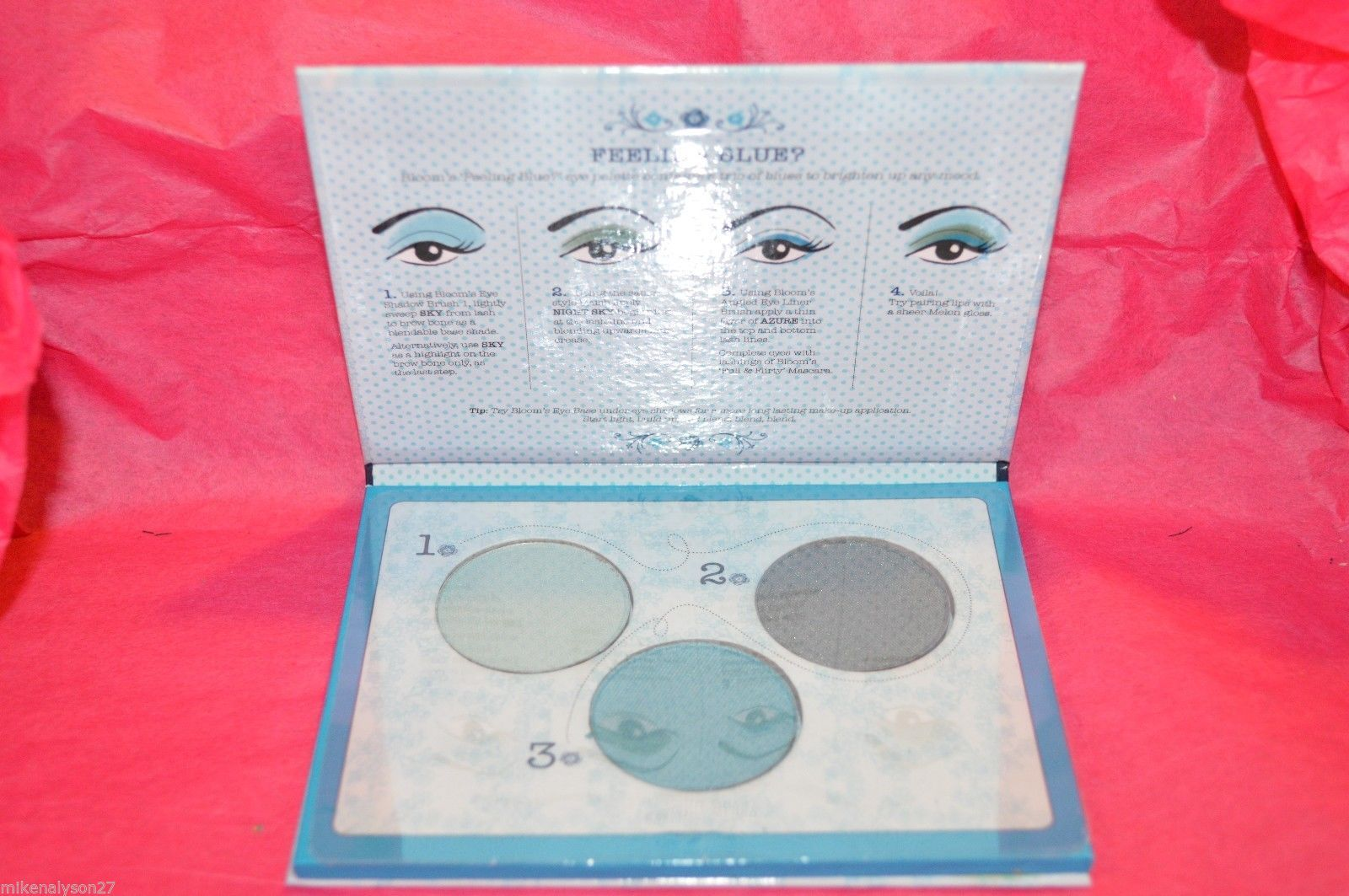 Primary image for Bloom Cosmetics Feeling Blue Eye Shadow Trio Sky Azure & Night Sky New Sealed