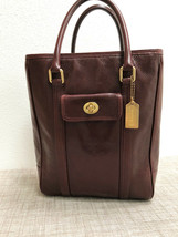 Rare Coach Bonnie Tote Ltd Ed Glazed Water Buffalo in Burgundy - Style 9... - $163.34