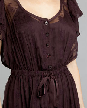 Robert Rodriguez Raisin Chiffon Dress Sz 4 NWT $ 348