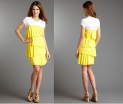 BCBGMAXAZRIA Pleated Layer Tee Dress NWT Sm $198 - $98.89