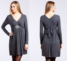 ECI Long Sleeve Knit Dress Sz 2 NWT $108 - $49.00