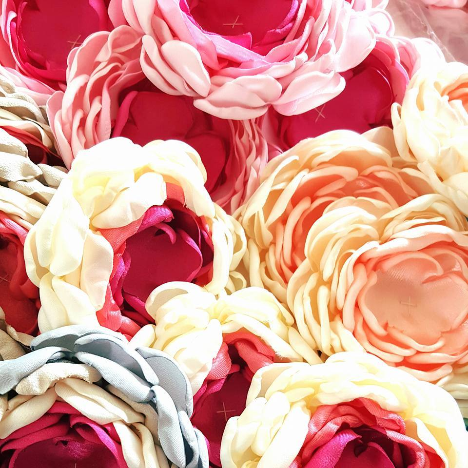 UNFINISHED HANDMADE FABRIC FLOWERS FOR YOUR CRAFT NEEDS