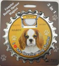 Cavalier  dog coaster magnet bottle opener Bottle Ninjas magnetic - $9.95