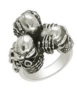 Shine Jewel Hear No Evil, See No Evil, Speak No Evil Sterling Silver Sku... - $41.97