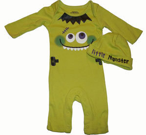 Primary image for  Baby Boys Little Monster Longall and Hat