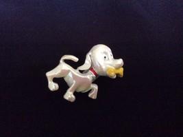 Vintage Enameled metal cute Puppy Dog pin brooch - $13.86
