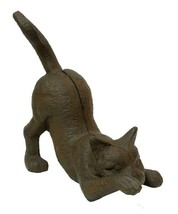 Set of 2 Cast Iron Kitten Statue Figurine Door Stop Home Decor New - $70.08