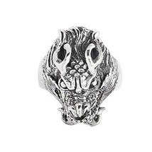 New Elegant Sholin Dragons Head 925 Silver Biker Ring - $33.26