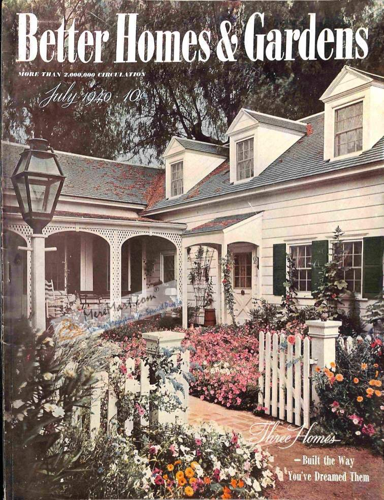 Better Homes And Gardens July 1940 Magazine Back Issues