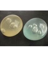Pair Modernist Lucite bubble art ball sculptures 1950s - 1960s Knoll Eam... - $175.42