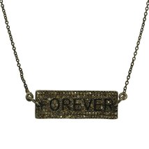 FOREVER Champagne Diamond 925 Sterling Silver Necklace - $99.78