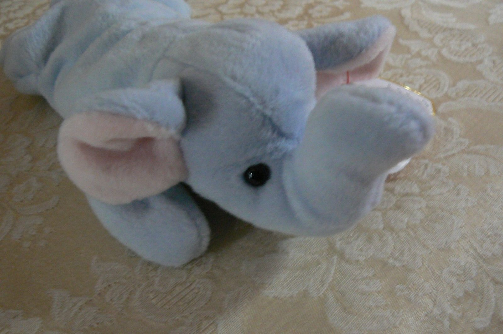 "Rare Ty Original Beanie Babies "" Peanut "" The Lt Blue Elephant/Retired MWMT Erro"