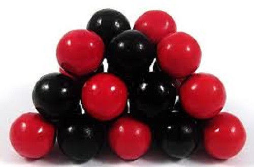 SIXLETS BLACK AND RED, 1LB