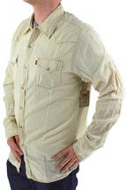 NEW LEVI'S MEN'S LINEN LONG SLEEVE BUTTON UP CASUAL DRESS SHIRT BEIGE 8151400 image 4
