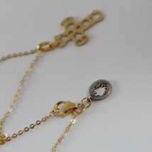 ROBERTO GIANNOTTI 9K YELLOW GOLD NECKLACE WITH ANGEL CROSS PENDANT MADE IN ITALY image 3