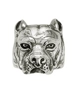 Shine Jewel American Pitbull 925 Sterling Silver Biker Ring - $43.55