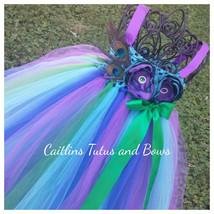 Peacock flower girl dress, peacock tutu dress, peacock flower girl tutu ... - $35.00