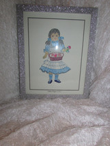 GIRL IN BLUE DRESS - 'BROWN BISQUE'  - WALL HANGING PICTURE - $5.90